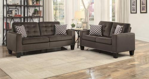 Lantana Sofa Set - Chocolate and Gray