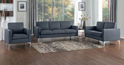 Soho Sofa Set - Dark Gray - Brownish Gray