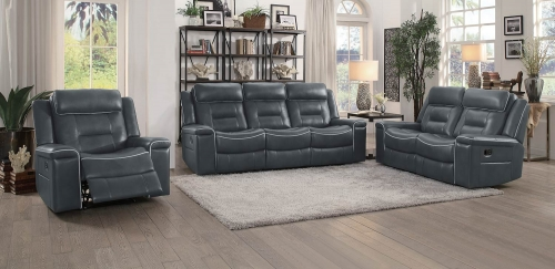 Darwan Reclining Sofa Set - Dark Gray