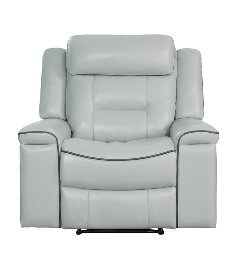 Darwan Lay Flat Reclining Chair - Light Gray