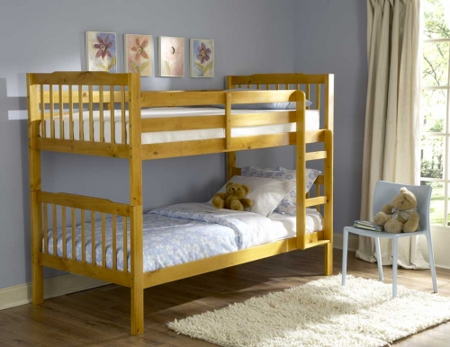 Todd Twin Bunk Bed in Pine Finish