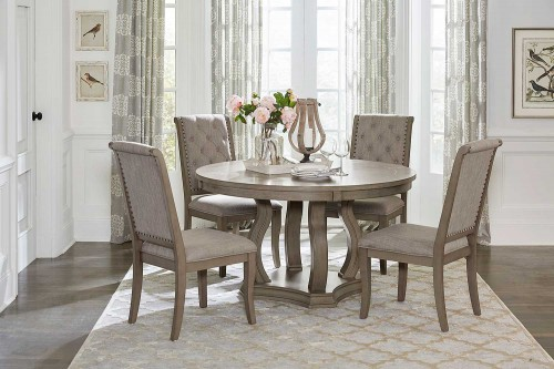 Vermillion Round Dining Set - Bisque