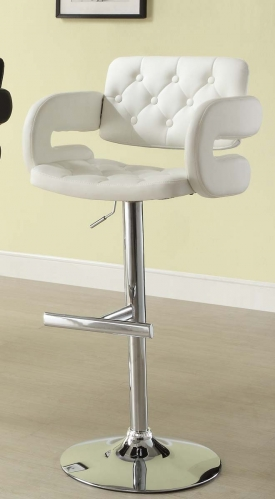 1178WHT Ride Airlift Swivel Stool - White