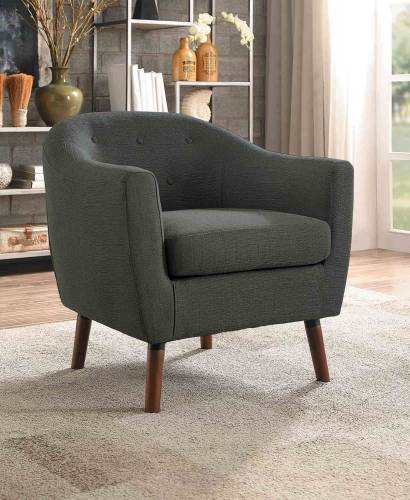 Lucille Accent Chair - Gray