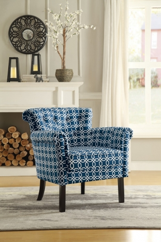 Barlowe Accent Chair - Chain Link Print