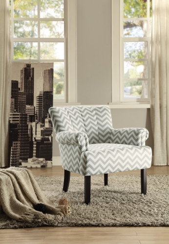 Langdale Accent Chair - Grey Chevron