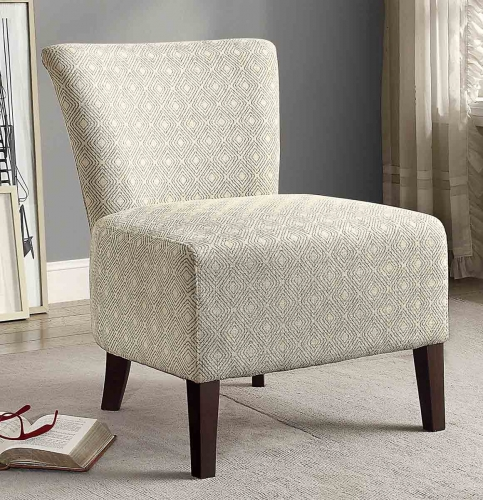 Cotati Accent Chair - Medium Blue/Cream