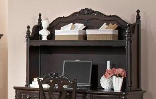Homelegance Cinderella Writing Desk Hutch - Dark Cherry