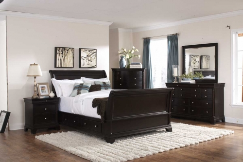 Inglewood Sleigh Platform Bedroom Set