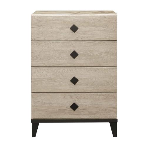 Whiting Chest - Cream and Black