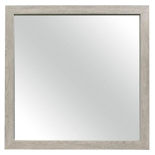 Quinby Mirror - Light Gray