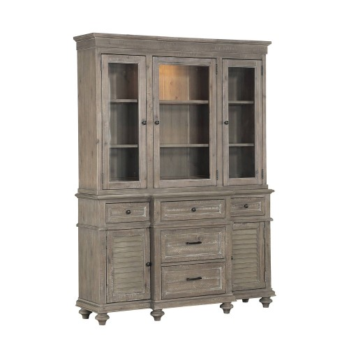 Cardano China Cabinet - Driftwood Light Brown