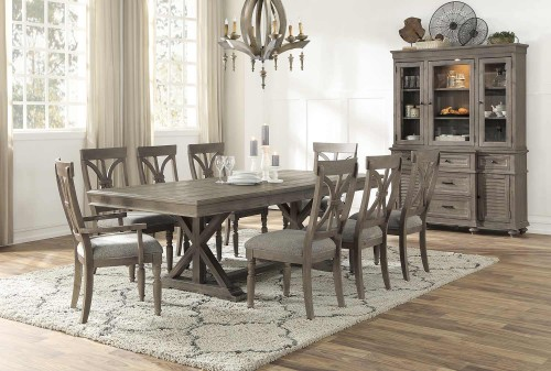 Cardano Rectangular Dining Set - Driftwood Light Brown