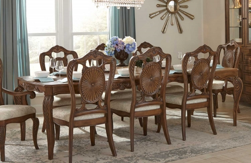 Moorewood Park Dining Table with Leaf - Pecan