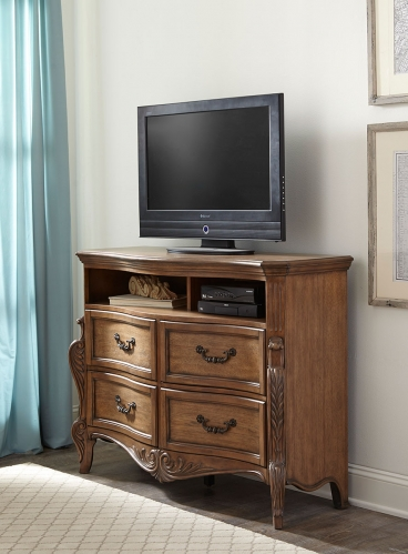 Moorewood Park TV Chest - Pecan