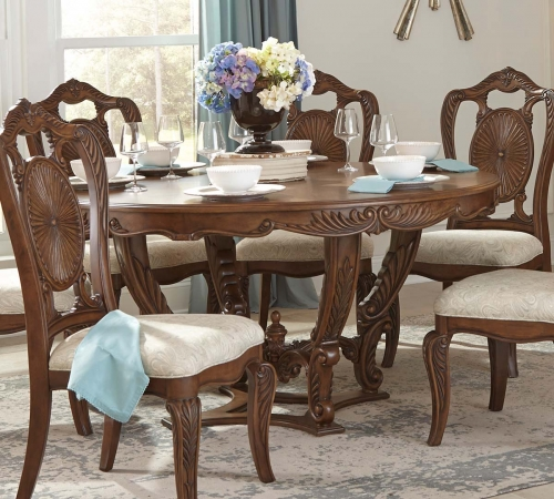 Moorewood Park Round Dining Table - Pecan