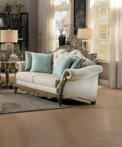 Moorewood Park Love Seat - Natural Tone Fabric
