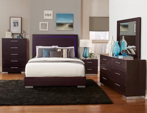 Moritz Bedroom Set - LED Lighting - High Gloss