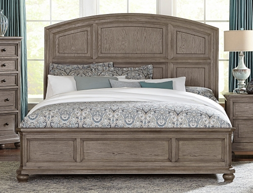 Lavonia Low Profile Bed - Wire-brushed Gray
