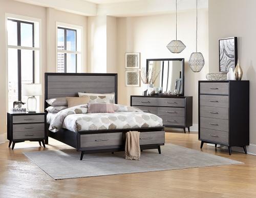 Raku Bedroom Set - Barnwood Grey