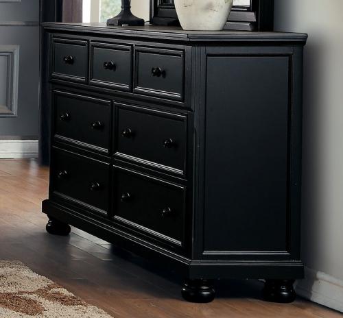 Laurelin Dresser - Black Sand-Thru