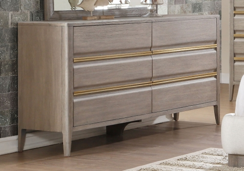 Aristide Dresser - Gold and Weathered Grey