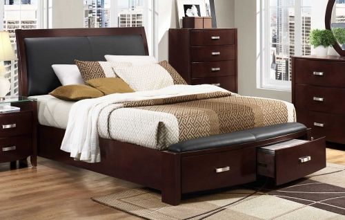 Lyric Platform Bed - Dark Espresso