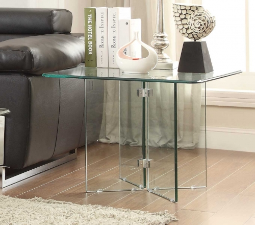 Alouette End Table - Glass