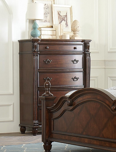 Hadley Row Chest - Cherry