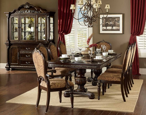 Russian Hill Double Pedestal Dining Set - Cherry