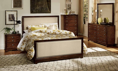 Bernal Heights Bedroom Set - Dark Walnut