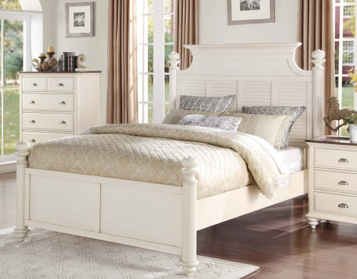 Floresville Platform Bed - Antique White