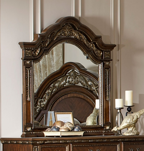 Homelegance Catalonia Mirror - Cherry