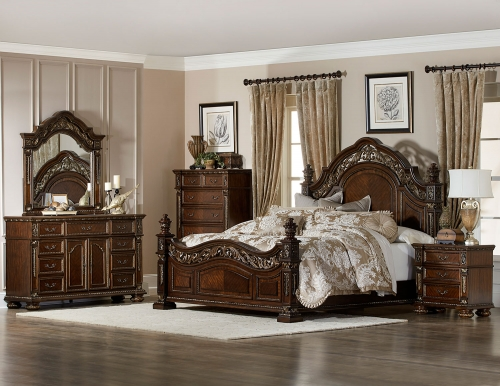 Catalonia Bedroom Set - Cherry