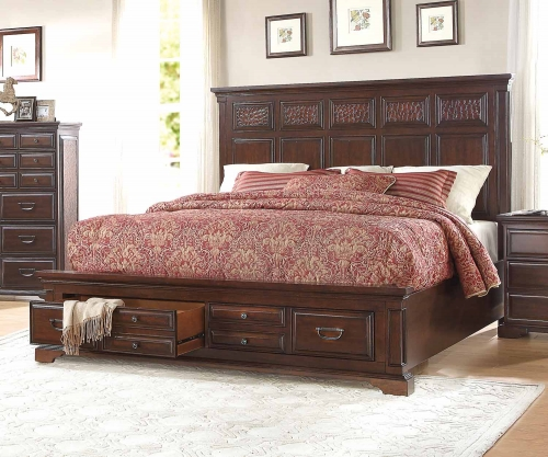 Cranfills Panel Bed - Cherry