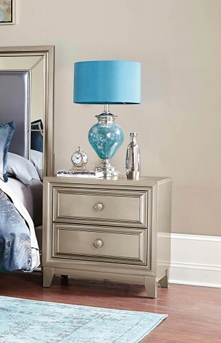 Hedy Night Stand - Silver