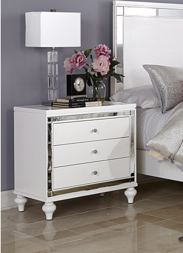 Alonza Night Stand - White
