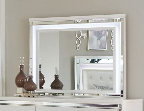 Alonza Mirror with LED Lighting - Brilliant White