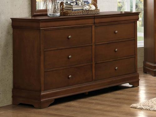 Abbeville Dresser - Hidden Drawer - Brown Cherry