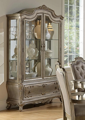 Florentina China Cabinet - Silver/Gold