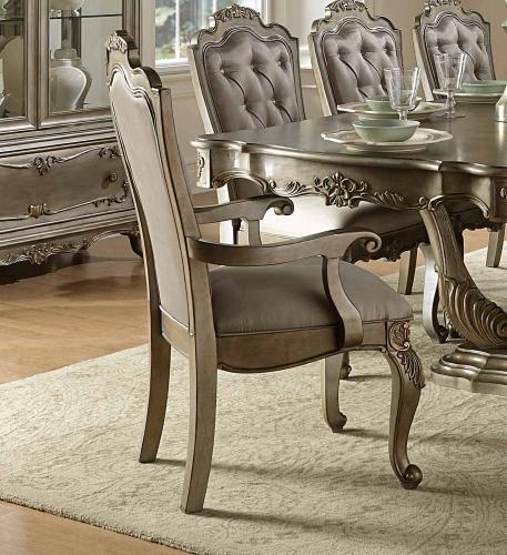 Florentina Arm Chair - Silver/Gold
