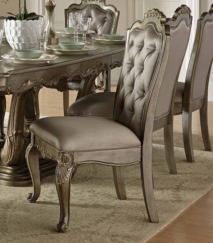 Florentina Side Chair - Silver/Gold