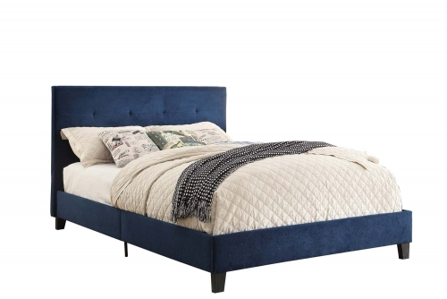 Brice Upholstered Platform Bed - Blue