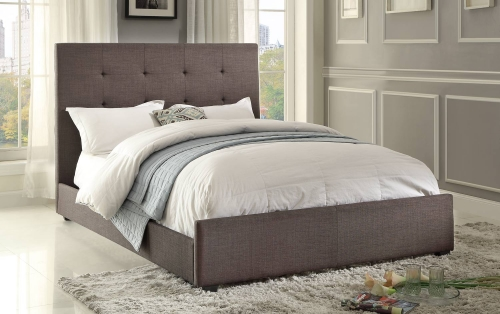 Cadmus Upholstered Bed - Dark Grey