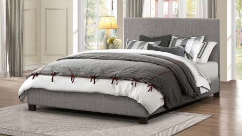 Chasin Upholstered Platform Bed - Grey