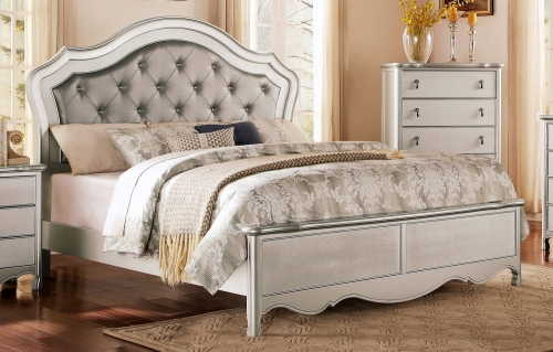Toulouse Upholstered Bed - Champagne
