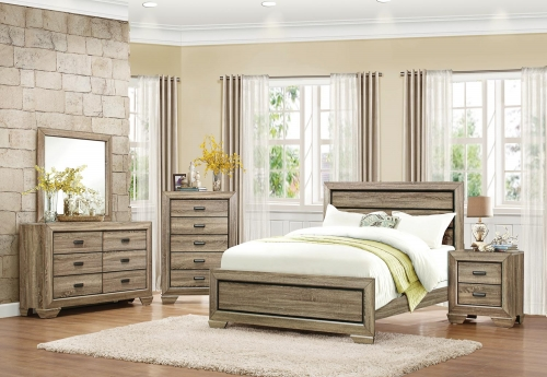 Beechnut Panel Bedroom Set - Light Elm