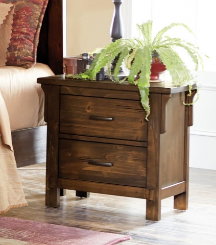 Terrace Night Stand - Rustic Burnish Oak