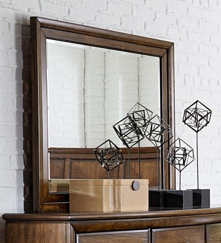 Homelegance Terron Mirror - Medium Oak