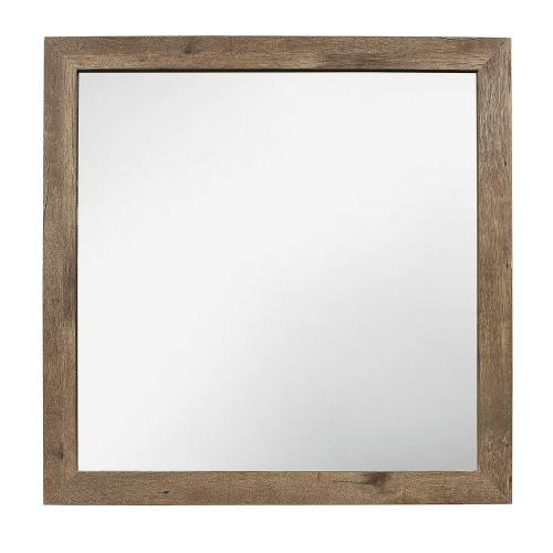 Mandan Mirror - Weathered Pine